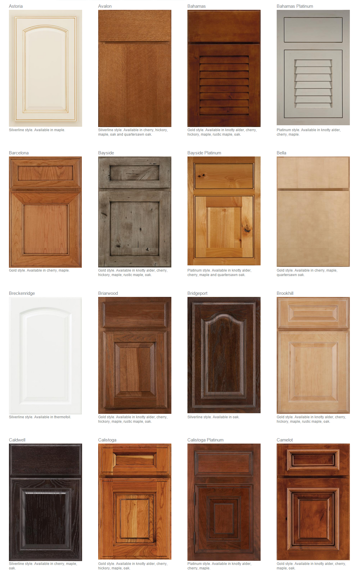 Door styles envision cabinetry affordable kitchen for Kitchen cabinets styles