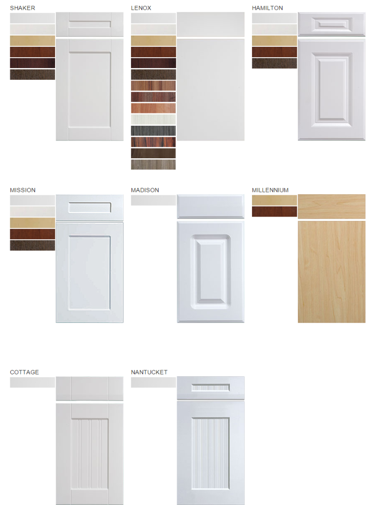 RSI PCS Frameless Thermofoil Door Style
